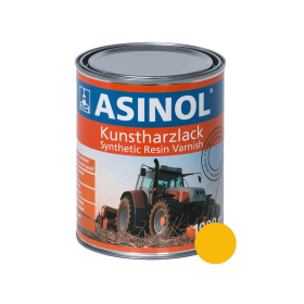 Can with yellow paint for Menzi Muck RAL 1003