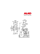 500 kg AL-KO Fully automatic Profi support wheel