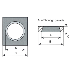 Vorschweißplatte für Frontladerzinken - Gerade