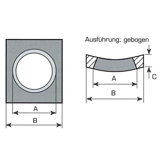 Gebogen Frontlader Zinkenträger Vorschweißplatte für Frontladerzinken