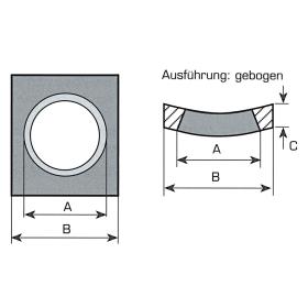 Vorschweißplatte für Frontladerzinken - Gebogen