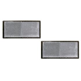 Rückstrahler Set 2-teilig weiß(Vorne) 105x55mm...