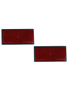 Reflector set 2-piece red(rear) 105x55mm - self-adhesive