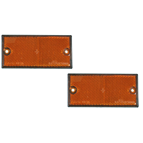 Reflector set 2 pieces yellow (lateral) 105x55mm - to...