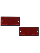 Reflector set 2-piece red (rear) 105x55mm - to screw on