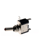 Toggle switch metal - 12V/20A with pilot light