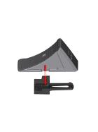 AL-KO 1 wheel chock and 1 holder size 20 - black plastic