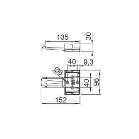 AL-KO 2 wheel chocks and 2 holders size 20 - black plastic