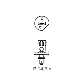 Halogen headlight bulb H1 24 Volt - 70 Watt