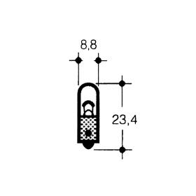 Incandescent lamps - indicator lamps 12 Volt 2 Watt - BA 9 s