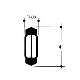 Festoon lamp 12 Volt 10 Watt - 41 mm - S 8,5
