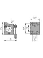AL-KO Clamp holder Ø 60 mm Toggle folding