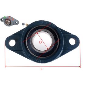 UCFL 203 - 2 hole flange bearing for 17 mm shaft
