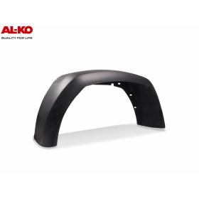 schwarzer Kunststoffkotflügel von der Firma ALKO mit den Abmessungen 240x806x380mm.