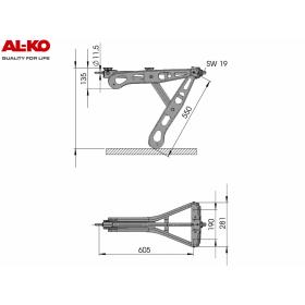 feuerverzinkte Premium Steckstütze 1250 kg von AL-KO