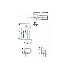 Simol Stützfuß für Anhänger, Traglast 6.000 kg statisch, klappbar