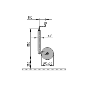 ALKO support wheel 150kg load capacity with 48mm diameter...