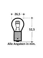 Incandescent lamp 12V 21 Watt BA 15s bulb