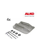 4 grey BIG FOOT plastic support feet for ALKO push-fit props