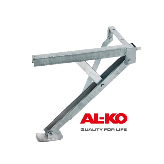 AL-KO swivel support COMPACT 600kg, length 404 mm, support height 480mm, front right, rear left