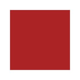 Dose mit Aebi-roter Farbe RAL 3000