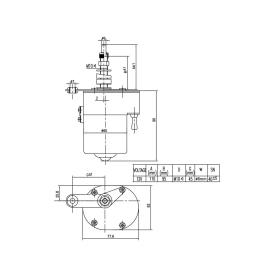 Scheibenwischermotor 115° inkl. Wischerarm & Wischerblatt
