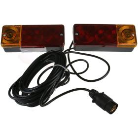 Rear lights Trailer lighting, wired incl. bulbs