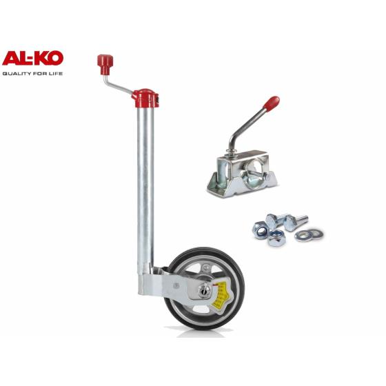 ALKO Premium Stützrad inkl. Radlastanzeige 180 kg mit passendem ALKO Klemmschelle.