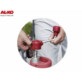 AL-KO Premium Stützrad mit Radlastanzeige & AL-KO Klemmhalter Ø48mm inkl. Befestigungsmaterial