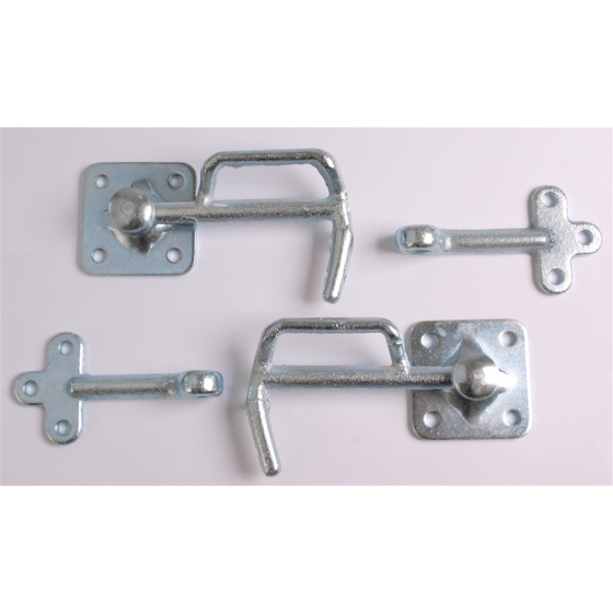 two galvanized dropside fasteners incl. two suitable counter holders size 1