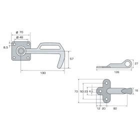 Tailgate fastener set size 1