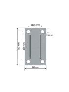 Simol Stützrad 2.000 kg halbautomatisch mit Federverriegelung inkl. Montageplatte