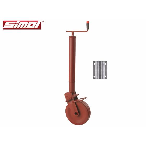 halbautomatisches Stützrad 1500 kg mit Montageplatte von Simol