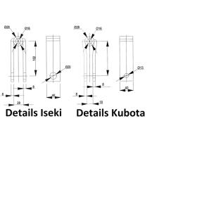 WAMO Dreipunktaufhängung 500mm Kubota Kleintraktor...