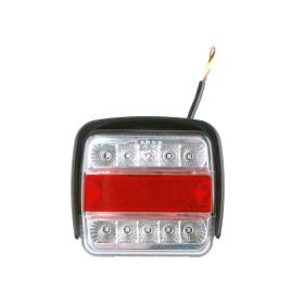 LED Rückleuchte mit 4 Funktionen und Schlagschutz