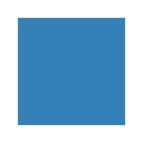 Dose mit blauer Farbe für Himel RAL 5012