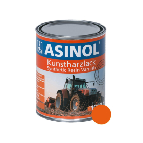 Tin with hammer-orange colour RAL 2004