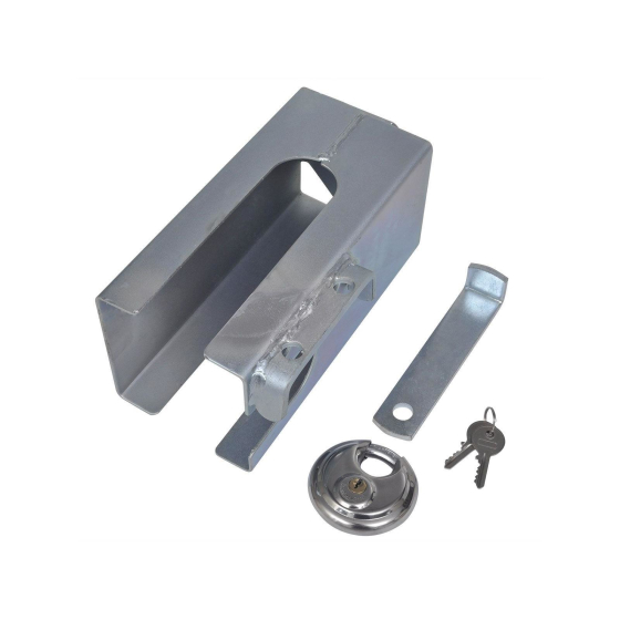 Anti-theft device Trailer lock galvanised, incl. discus lock