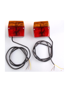 Three-chamber lights Rear lights set incl. 1.3 meter cable and bulbs