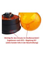 WAMO omnidirectional beacon to plug on, 24V, orange, flexible, shockproof