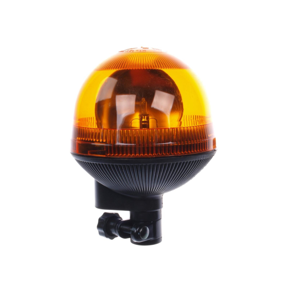 gelbe Rundumleuchte 12 Volt und 55 Watt mit einer schlagfesten Lichthaube.