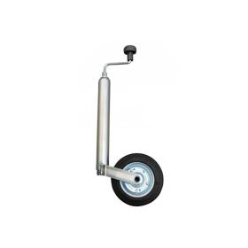 verzinktes Stützrad mit 150 kg Traglast für Anhänger.