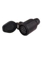 13 pole plastic coupling socket - compact design