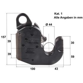 2er Set CBM Kat. 1 Unterlenker Schnellkuppler - selbstsichernd
