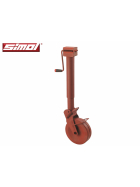 Simol support wheel 2.000 kg semi-automatic with spring lock