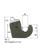 WGF Kat. 2 Unterlenker Schnellkuppler - selbstsichernd