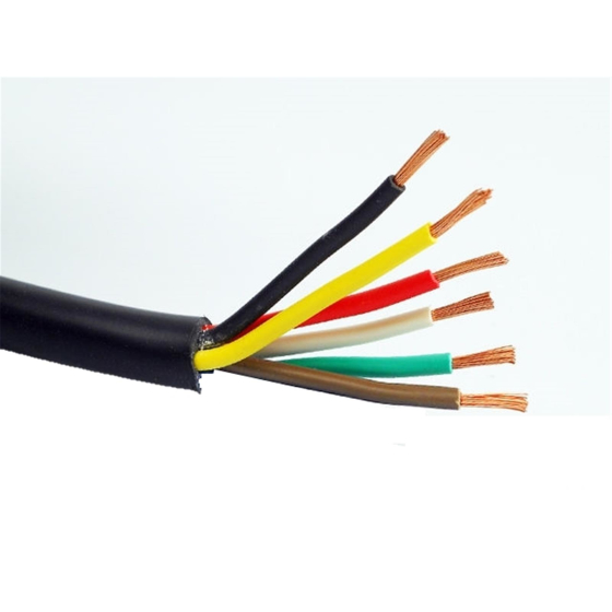 Vehicle cable/vehicle cable 6 x 0.75 mm²