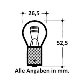 Incandescent lamp 24V 21 Watt BA 15s Bulb