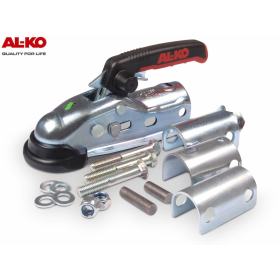 AL-KO AK270 für gebremste Anhänger bis 2700 kg inklusive Befestigungsmaterial und Adapterplatten für eine Reduzierung auf 45, 40 und 35 mm.