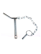 Upper link pin - safety pin cat. 2 Ø 25mm - 175/191mm - compl. with chain and linch pin